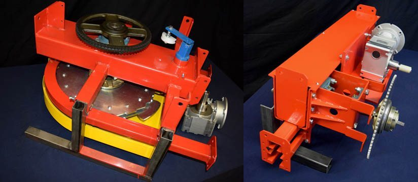 Image of an off-line sprocket and in-line caterpillar drive for power and free conveyors.