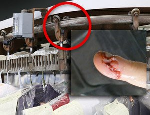 Overhead Conveyor Safety For Garment Handling Systems